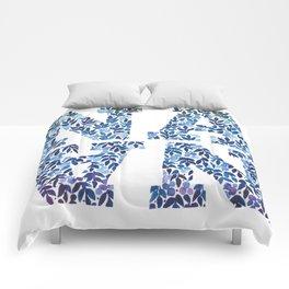 Modern Floral Nana Illustration Comforters