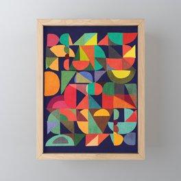 Color Blocks Framed Mini Art Print