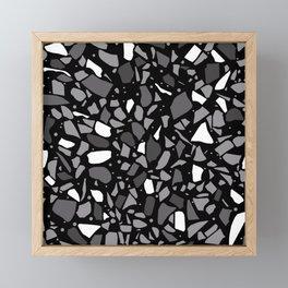 Terrazzo Spot Black 2 Framed Mini Art Print