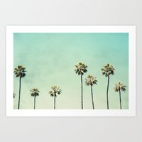 Art Prints featuring Palm Trees  by Bree Madden