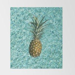 Pineapple Swimming Throw Blanket