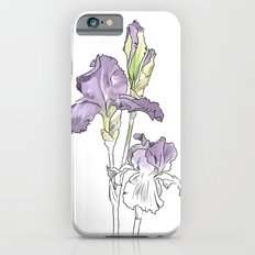 Violet iris - Botanical sketch / Flower illustration iPhone 6s Slim Case