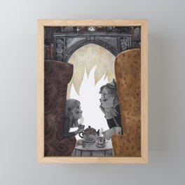 A fireplace Framed Mini Art Print
