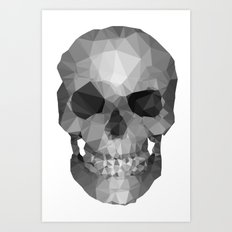 Polygons Skull Art Print