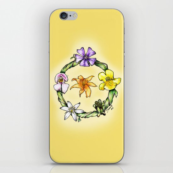 Garland of flowers iPhone & iPod Skin
