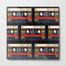 Retro classic vintage gold mix cassette tape Metal Print