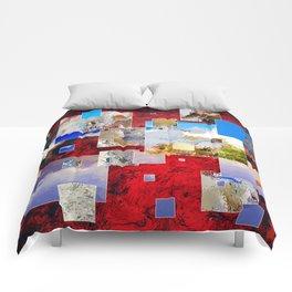 Espanissia - square flowers Comforters