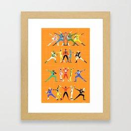 Super Sentai Framed Art Print
