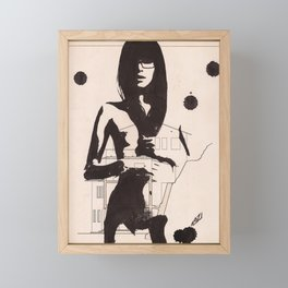 Supersexy - Ink drawing portraiture Framed Mini Art Print