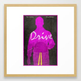The Nightcall - Drive Poster Framed Art Print
