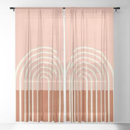 Terracota Pastel Sheer Curtain