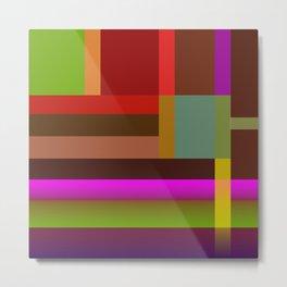Multicolored geometric bands Metal Print