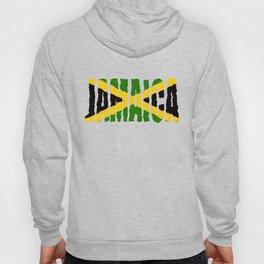 Jamaica Font with Jamaican Flag Hoody