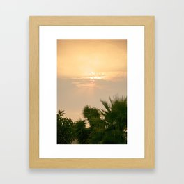 cloudy sky in the oasis Framed Art Print