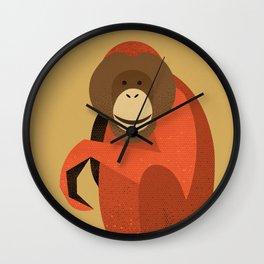 Whimsy Orang Utan Wall Clock