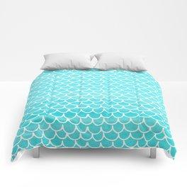 Let´s be mermaids- Aqua Mermaidscales - into the Sea Comforters