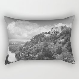 Ha Ha Tonka-Black and White Strokes Rectangular Pillow
