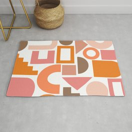 Shapes in Retro Hues Rug
