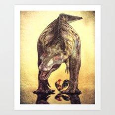 Discussion of Evolution Art Print