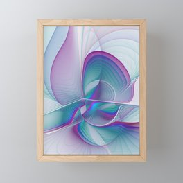 Colorful Beauty, Abstract Fractal Art Framed Mini Art Print
