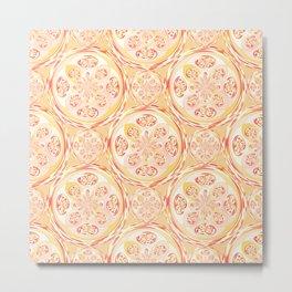 Geometric pizza pattern Metal Print