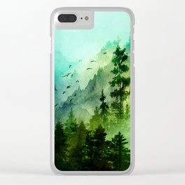 Mountain Morning Clear iPhone Case