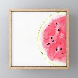 Tutti Frutti. Watermelon Framed Mini Art Print
