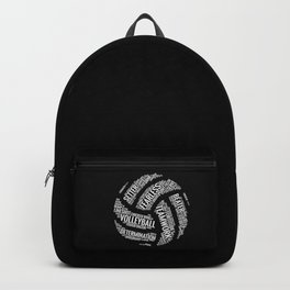 White Volleyball Wordcloud - Gift Backpack
