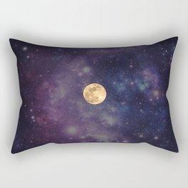 Galaxy Moon Rectangular Pillow