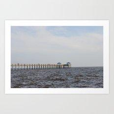 Pascagoula Pier Art Print