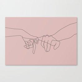Blush Pinky Canvas Print