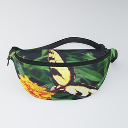 Swallowtail Butterfly at the Marigold Buffet Fanny Pack