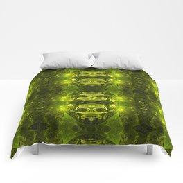 Emerald Green Fractal Comforters