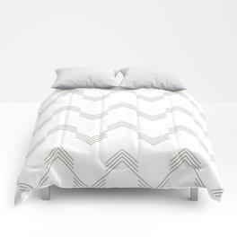 Simply Deconstructed Chevron Retro Gray on White Comforters