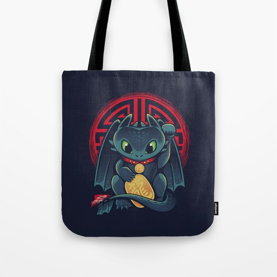 Maneki Dragon Tote Bag