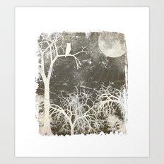 Night Forest Art Print