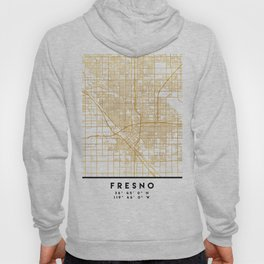 FRESNO CALIFORNIA CITY STREET MAP ART Hoody