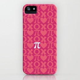 Hugs, Kisses, Love, and Pi - Pink  iPhone Case