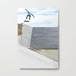 Nollie backside Flip In Metal Print