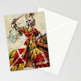 Knight At Tournament Stationery Cards