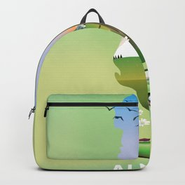 Albania Map travel poster Backpack