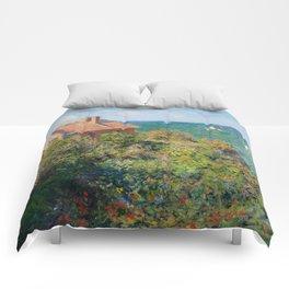 Claude Monet - Fisherman's Cottage on the Cliffs at Varengeville Comforters
