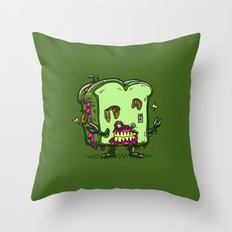 Zombie Sandwich Bot Throw Pillow