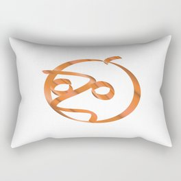 Halloween pumpkin on transparent background Rectangular Pillow