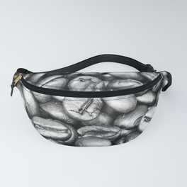 Coffee Beans! Black and White Fanny Pack