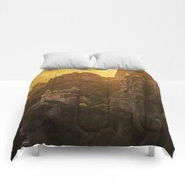 Golden hour at Meteora Comforters