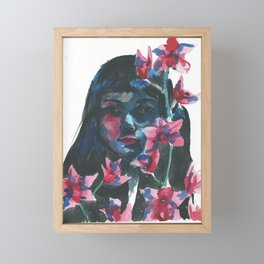 Night flower Framed Mini Art Print