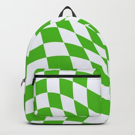 Warped Check - Kelly Green  Backpack