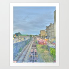 Down by the Tracks Art Print