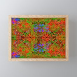Test My Twist (psychedelic, abstract, halftone) Framed Mini Art Print